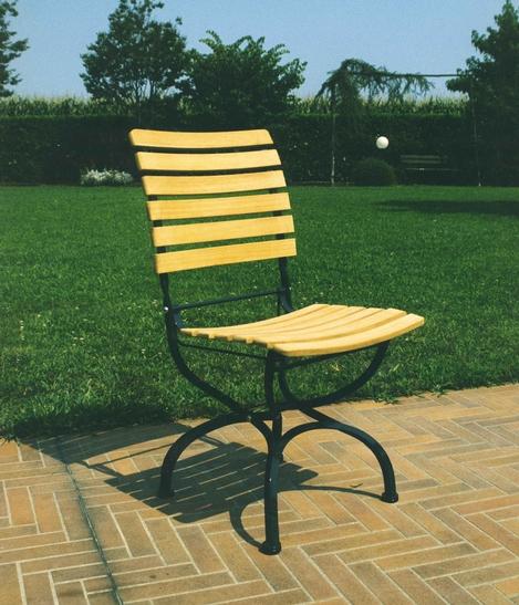 Sedia da giardino five stars sedia in ferro e teak sedie for Sedie per esterno in ferro