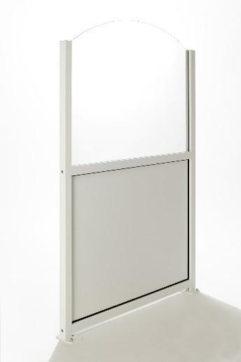 Paravento per dehor sotto alluminio sopra vetro vela - Paravento per esterno ...