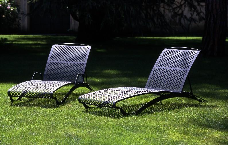 Lettini da giardino in ferro five stars arredo da giardino - Chaise longue da esterno ...